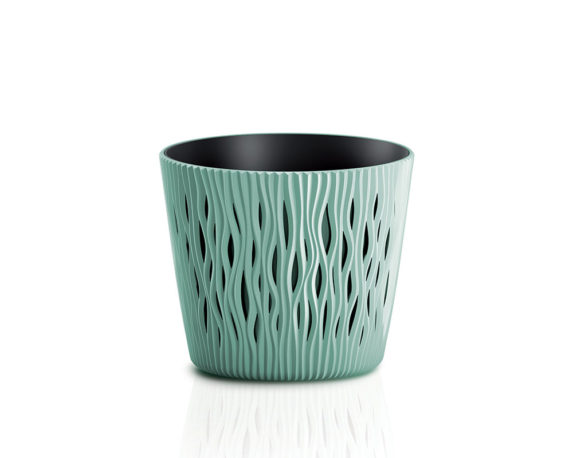 Vaso Sandy C/inserto D13cm Verde Salvia