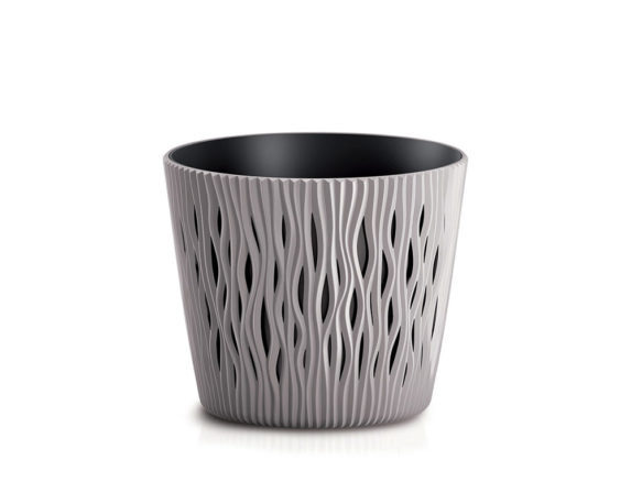 Vaso Sandy C/inserto D16cm Sabbia