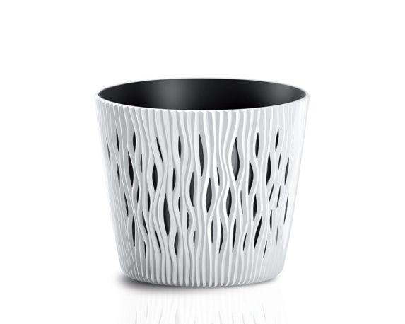 Vaso Sandy C/inserto D19cm Bianco