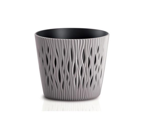 Vaso Sandy C/inserto D19cm Sabbia