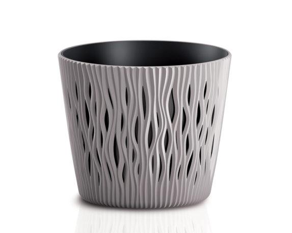 Vaso Sandy C/inserto D26cm Sabbia