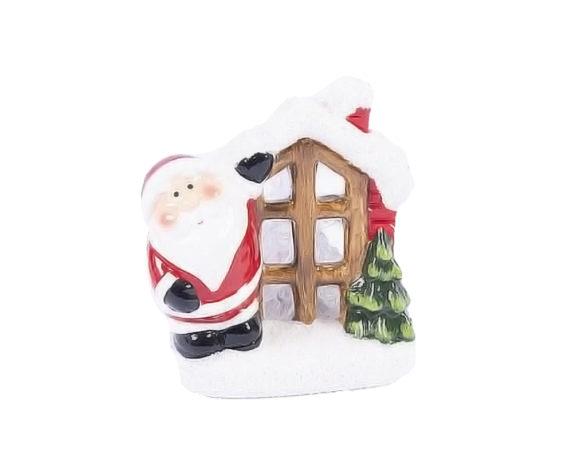 Babbo Natale Con Finestra Led Terraglia