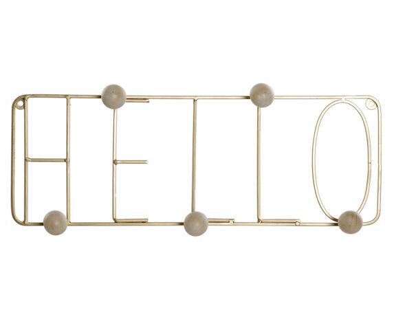 Attaccapanni Dorato Hello Metallo/legno