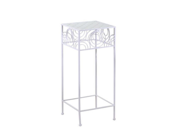 Tavolino Geometrie Large Bianco Metallo