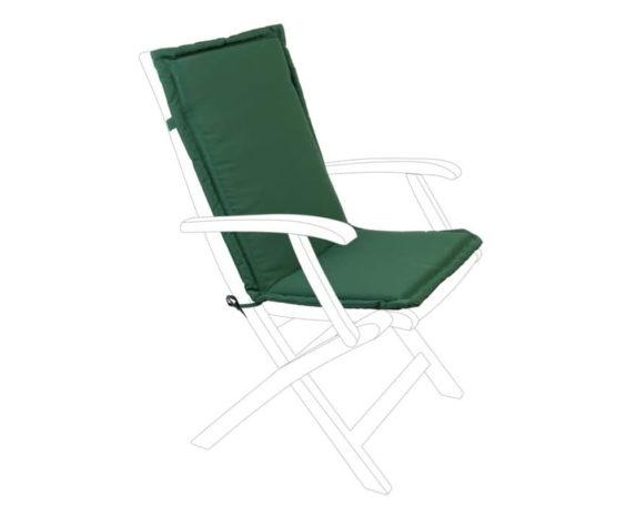 Cuscino Verde Per Schienale Sedia A Sdraio Poliestere Medio