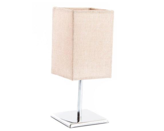 Lampada Da Tavolo Minimal Lino / Inox