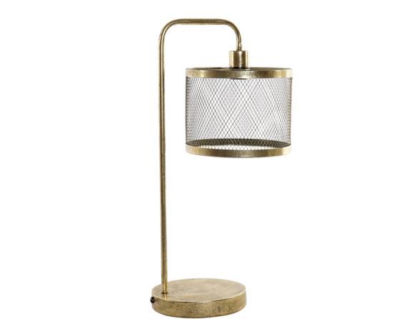 Lampada Da Tavolo Dorata Inox
