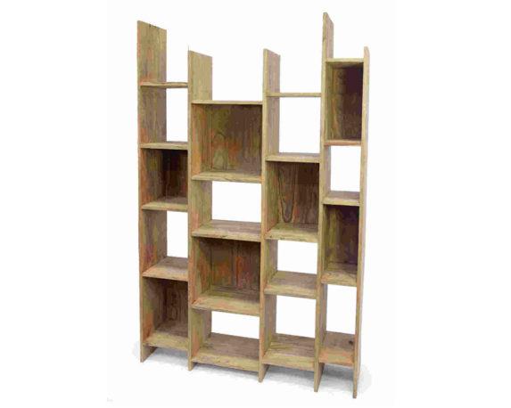 Libreria Sfalsata Sheesham Legno