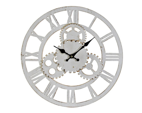 Orologio Parete Ingranaggio Legno Ass.