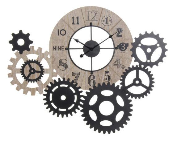 Orologio Parete Ingranaggio Metallo