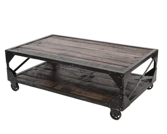 Tavolino Rettangolare Bristol C/ruote