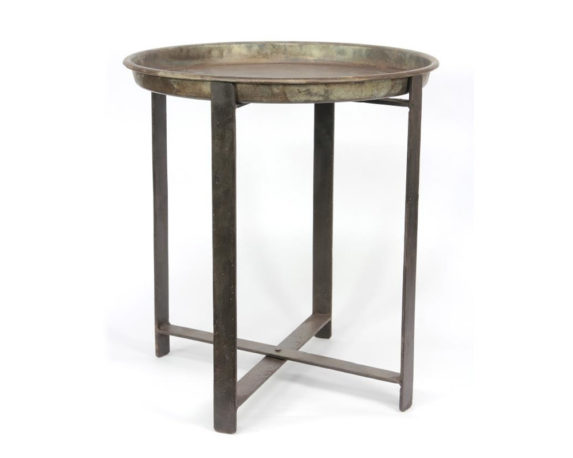Tavolino Rotondo Base Pieghevole