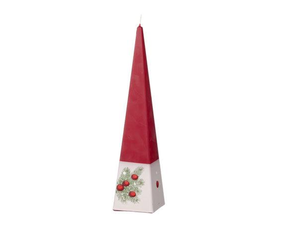 Candela Piramidale C/agrifoglio E Pigne