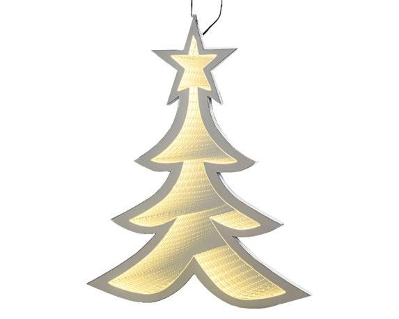 Albero Di Natale Infinity Neon Effetto 3d