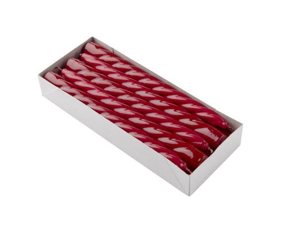 Box 10 Candele Coniche Bordeaux H23 Cm