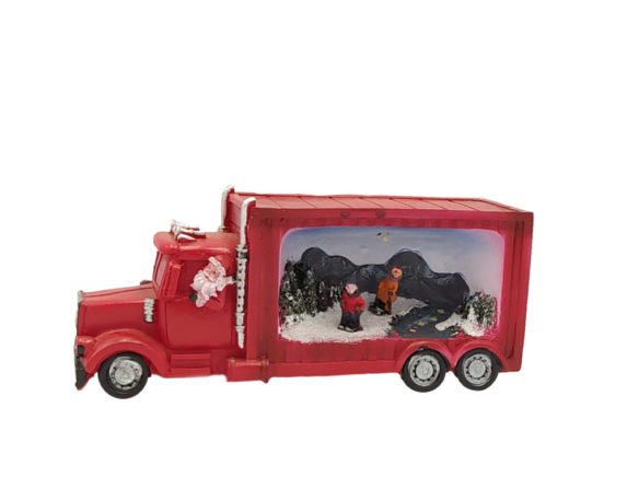 Babbo Natale C/camion Led