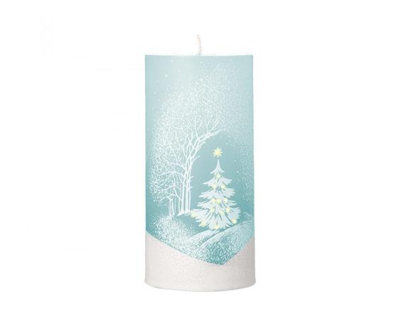 Candela Cilindrica Paesaggio Azzurro