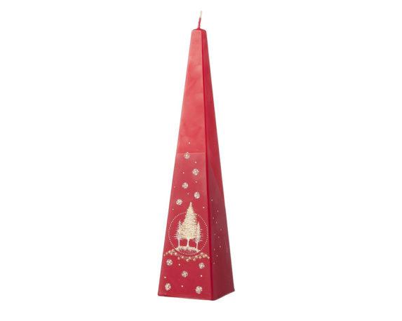 Candela Piramidale Rossa C/alberi Di Natale