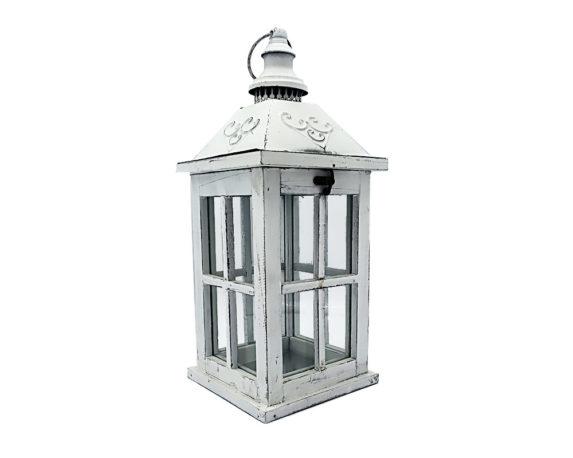 Lanterna Decapata Bianca Legno/metallo