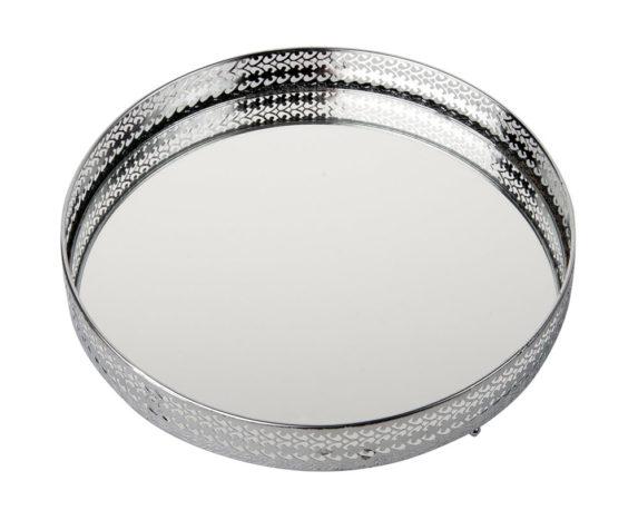 Vassoio C-specchio D26 Argento Metallo